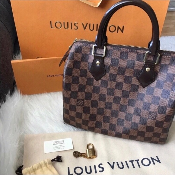 f745674b30a7 Louis Vuitton Handbags - 💯 Louis Vuitton Speedy 25 Damier Ebene